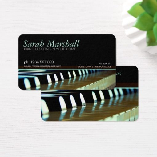 Piano Keyboards Music Teacher Business card - Rounded corners