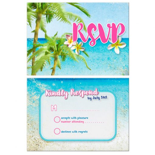 Beach Themed RSVP | Beach RSVP Cards • designs by webgrrl.biz