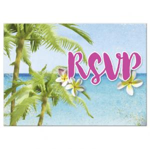 Beach Themed RSVP | Beach RSVP Cards