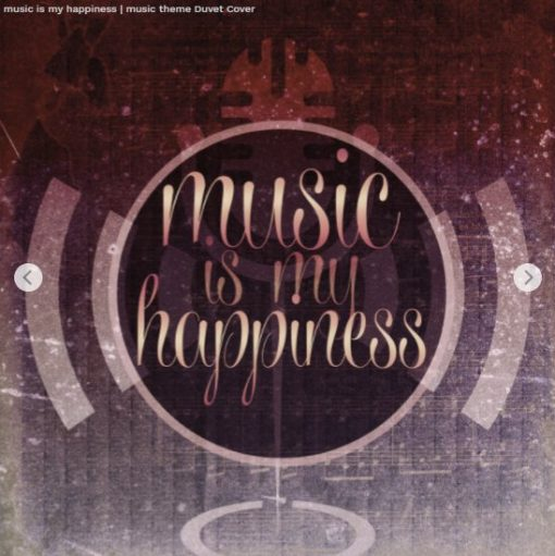 music is my happiness | music theme design by Webgrrl