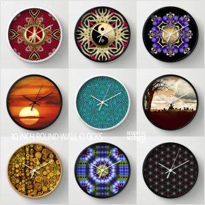 Wall Clock Art designs by Webgrrl | Society6