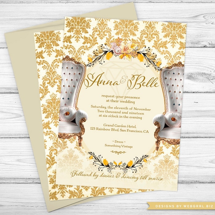 Butterfly Bat Mitzvah Invitations - Watercolor Flowers and Butterflies by Webgrrl