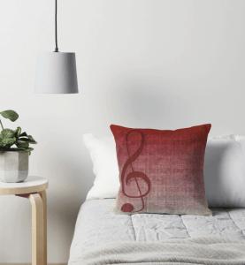 Clef Music Symbol | Vintage Grunge Music Sheet Throw Pillows | Redbubble
