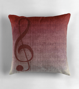 Clef Music Symbol | Vintage Grunge Music Sheet Throw Pillows | Redbubble