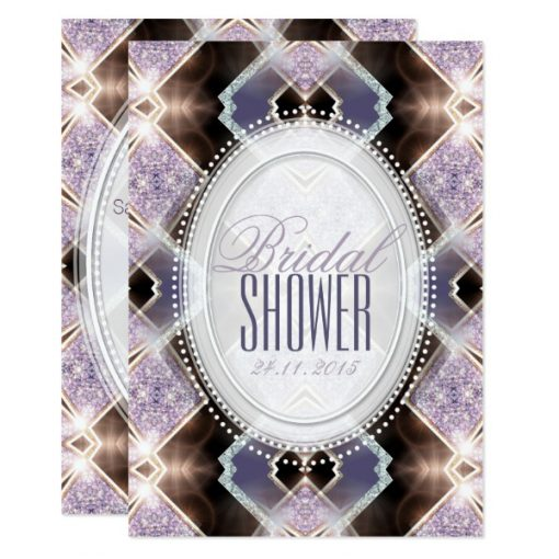 Soft Lilac Glitter Princess Bridal Shower Invitation by Webgrrl at AlternativeWeddings (Zazzle)