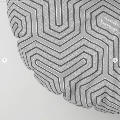 'Odd one out' Geometric Floor Pillow (close up view)