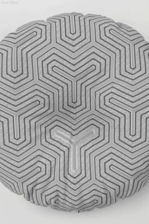 'Odd one out' Geometric Floor Pillow by Webgrrl