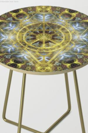 Sacred Geometry Fractal Mandala Side Table 13 by Webgrrl.biz (Society6)