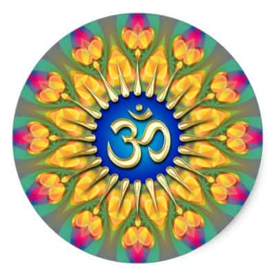 OM Light Fearless Energy Spiritual Healing Sticker by webgrrl