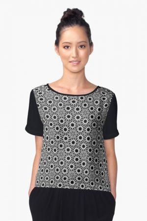 monomax-starburst-black-white-pattern-chiffon top-by Webgrrl