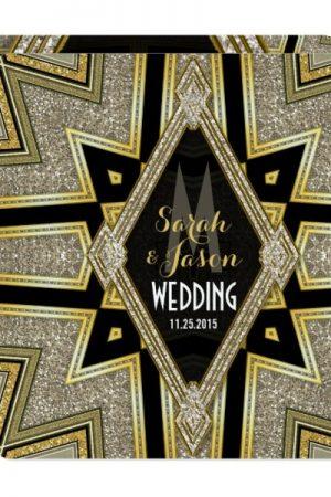 Art Deco Goldy Diamonds Wedding Invitations by AlternativeWeddings