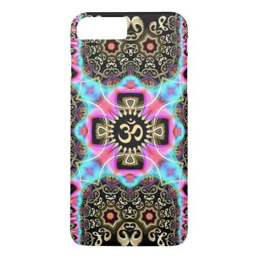 Celtic Arabesque Aum Gold Art Fusion iPhone 4 Case by Electronika