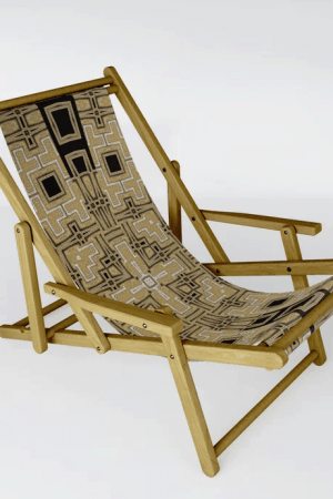 Gold Glitter Geometry Glam Sling Chair by Webgrrl | Society6
