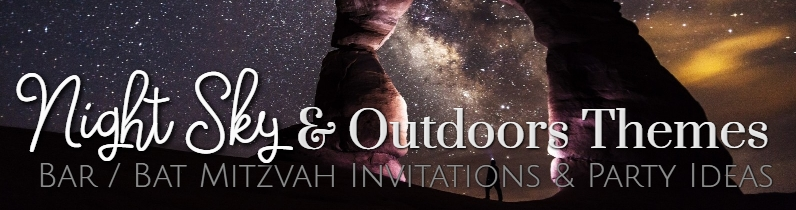 Outdoors Space Theme Bar Mitzvah