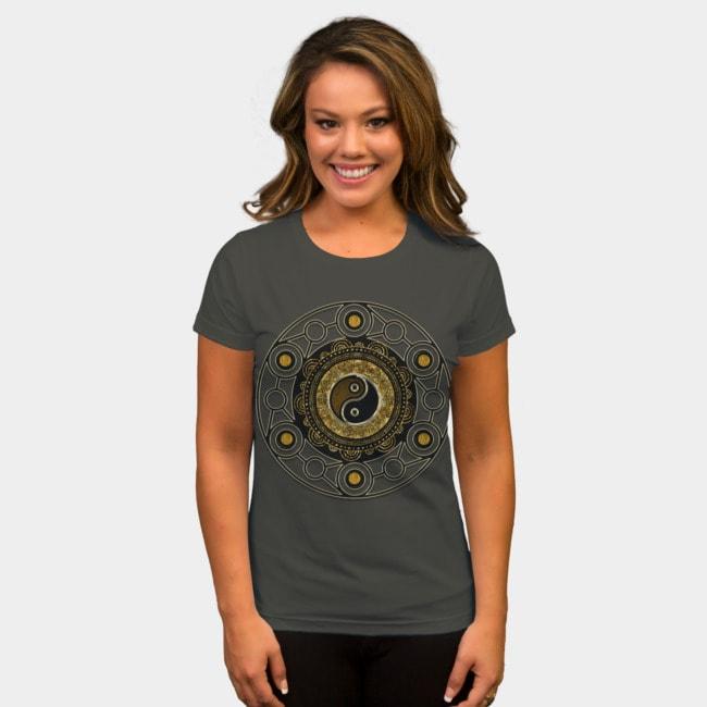 gold-black-balance-life-yin-yang-symbol-women-fitted-tshirt-dbh