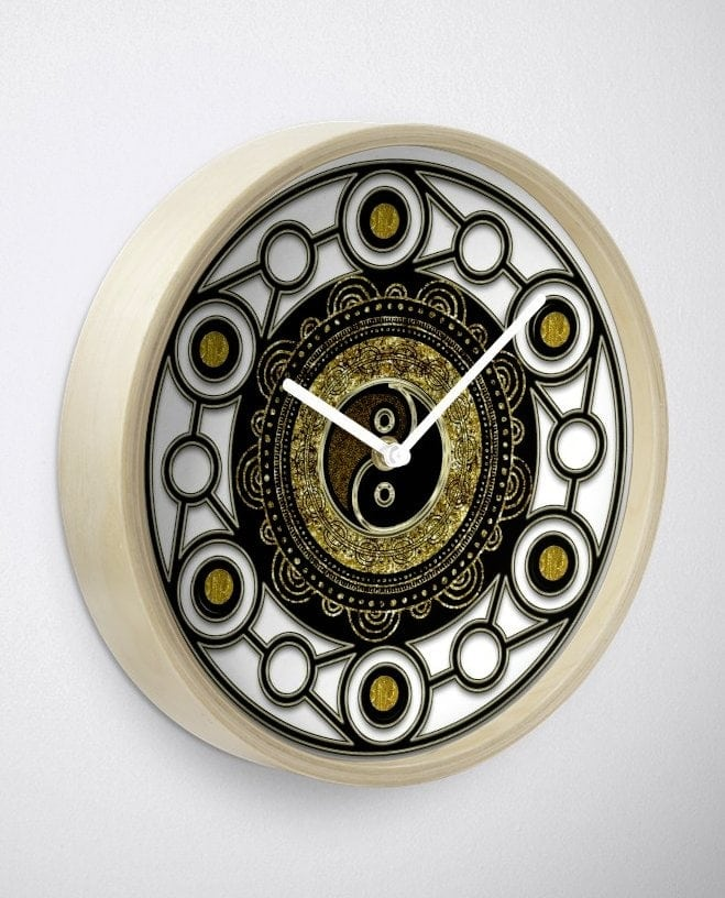 rb-gold-black-geometry-yin-yang-mandala-clock