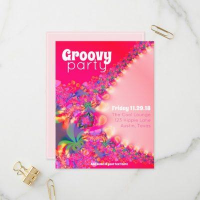 Groovy Girls Party Invitation Postcard by Webgrrl • Paperstation • Zazzle