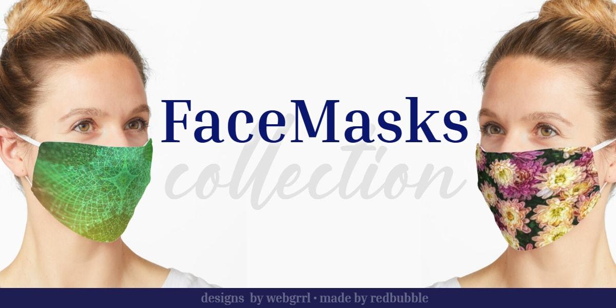 Unique Art Designs cloth Face Masks by Webgrrl at Redbubble
