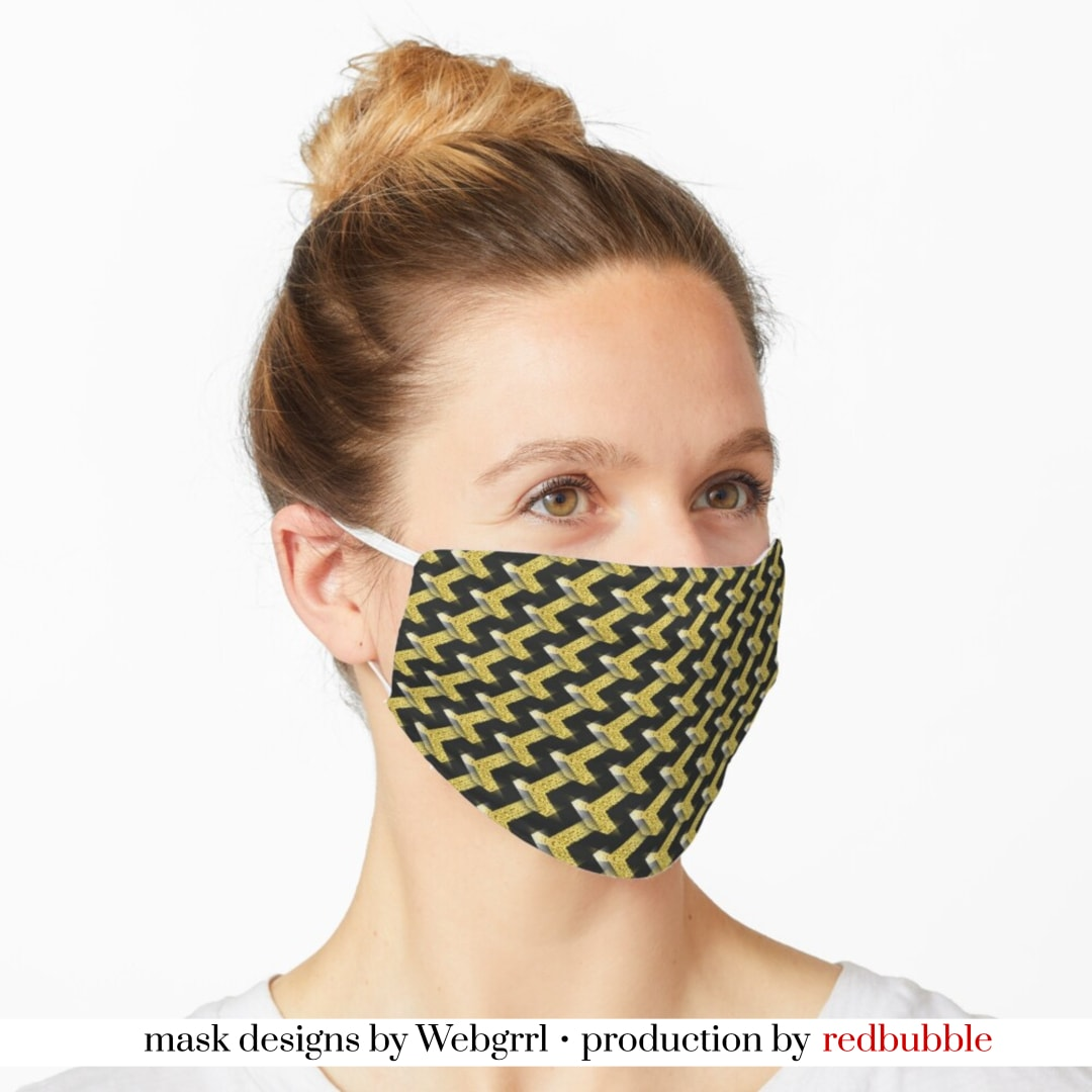 Black and Gold Pattern series Mask • Designed by webgrrl