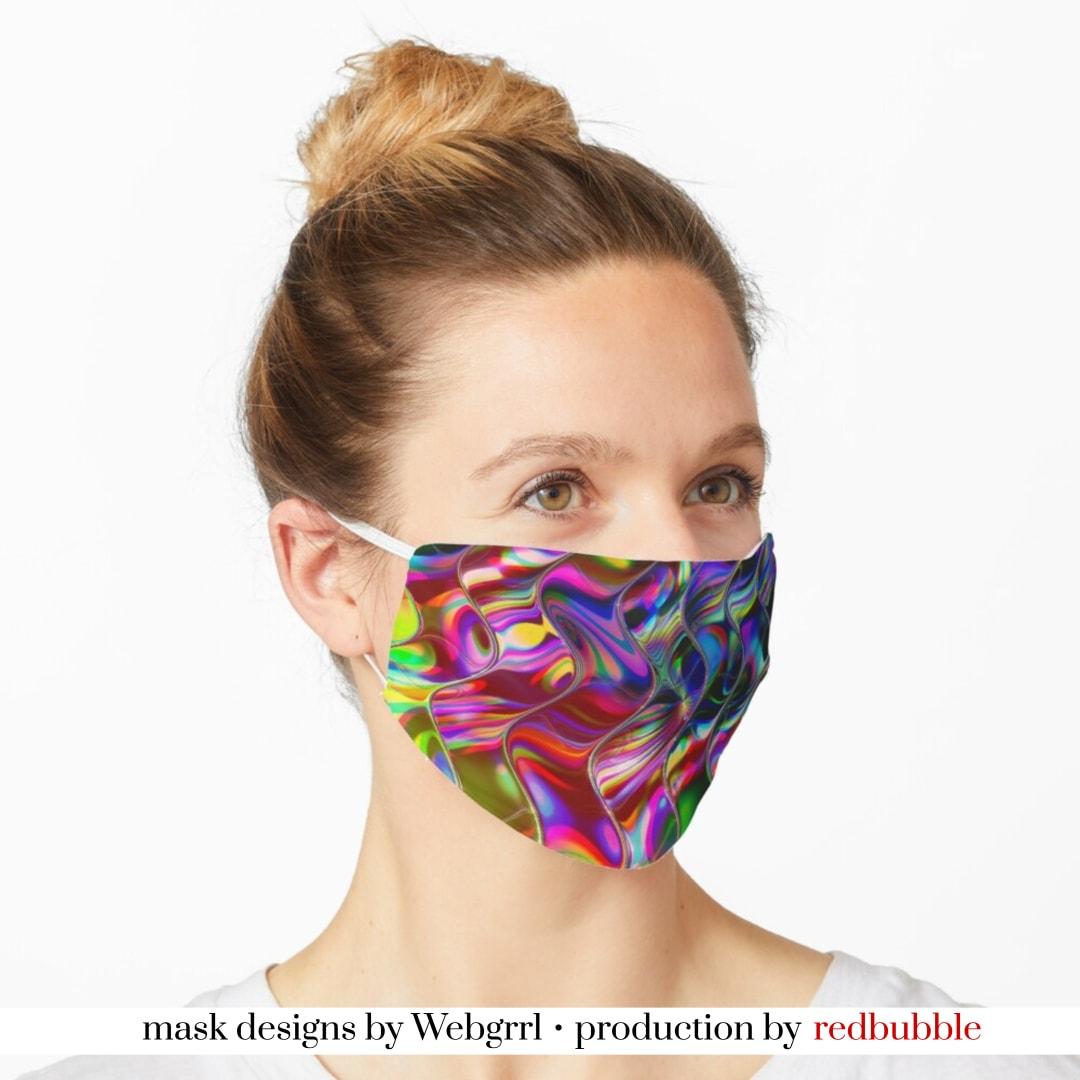 Psychedelic Mirror Waves Mask • Designed by webgrrl