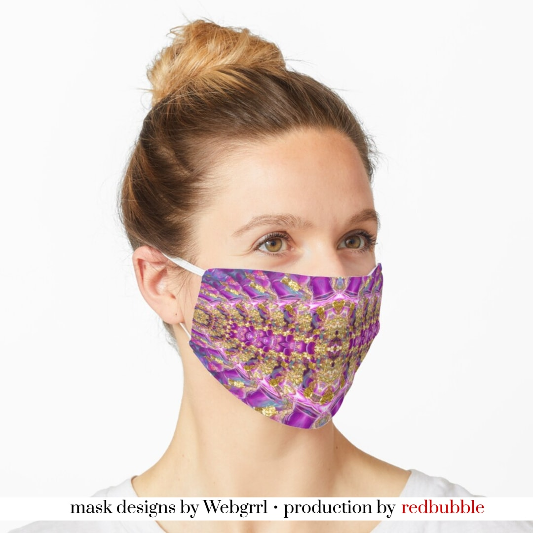 Purple Royale Fractals Geometry Mask • Designed by webgrrl