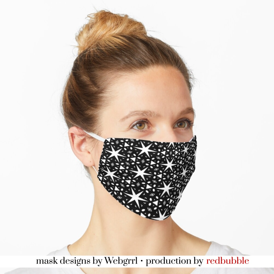 shop Starry Night Black and White Mask • RB