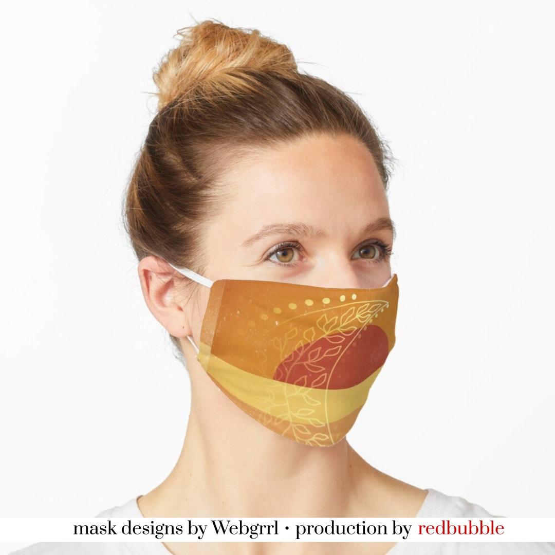 Sunrise Sunset Earth Moon Face Mask • Designed by webgrrl