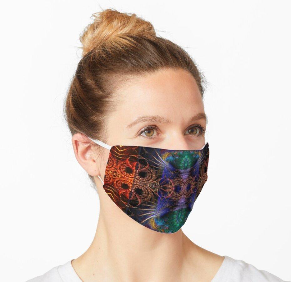Fractal Artistry Mask Designed by webgrrl
