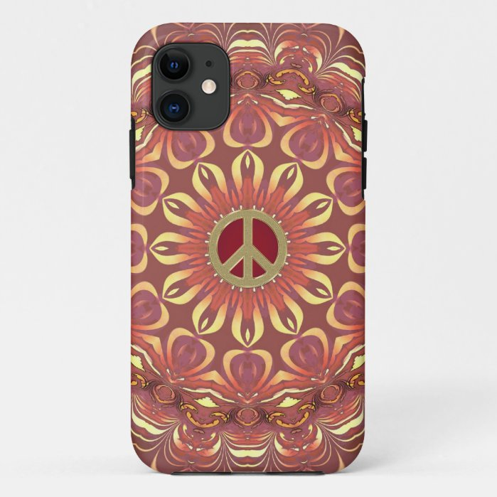 Bohemian Peace Flower of Life iPhone Case by  Webgrrl - Electronika - Zazzle
