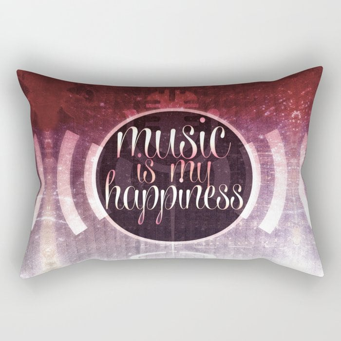 music is my happiness | music theme Rectangular Pillow by Webgrrl @ society6