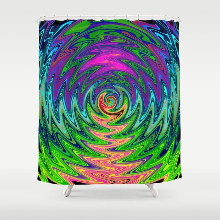Psychedelic Journey of Colours Shower Curtain by Webgrrl @ society6