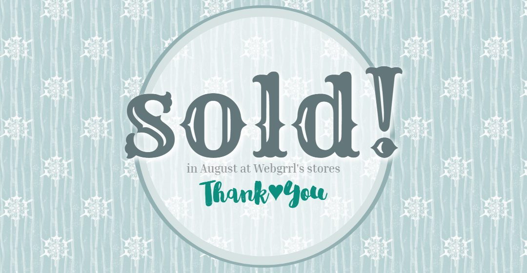 Art Sold August 2020 – Thank You